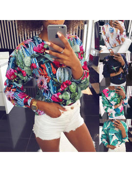 Womens Autumn Floral Hoodies Sweatshirt Girls Blouse Jumper Pullover T Shirt Top by Ebay Seller