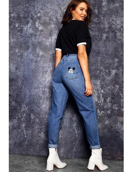 Disney Mickey Pocket Mom Jeans by Boohoo