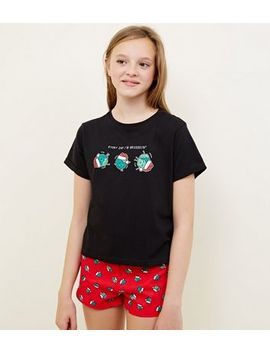 Girls Red Everyday I'm Brussellin' Pyjama Set by New Look