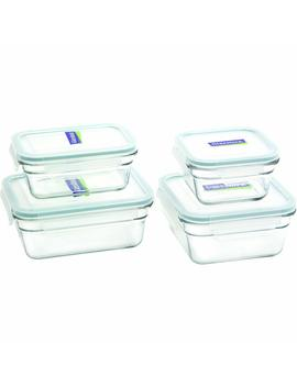 Glasslock 8 Piece Rectangle And Square Assorted Oven Safe Container Set by Glass Lock