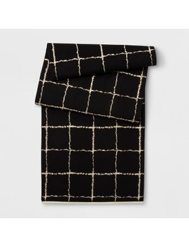 "72""X14"" Grid Table Runner Black/Gold   Project 62™ by Project 62"