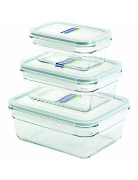 Glasslock 6 Piece Rectangle Oven Safe Container Set by Glass Lock
