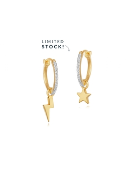 Pave Starlight Charm Hoops by Missoma