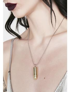 Thru The Heart Bullet Case Necklace by Ciel