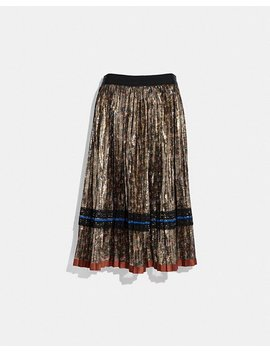 Daisy Print Pleated Skirt by Coach