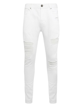 White Rip Skinny Jean by Primark