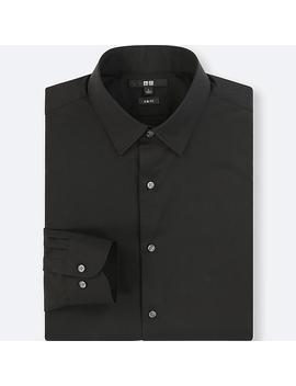 Men Easy Care Broadcloth Stretch Slim Fit Shirt (Regular Collar) by Uniqlo