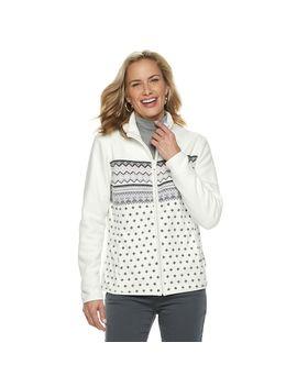 Women's Croft & Barrow® Print Fleece Jacket by Croft & Barrow
