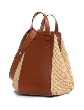 Hammock Raffia Tote Bag, Brown by Neiman Marcus
