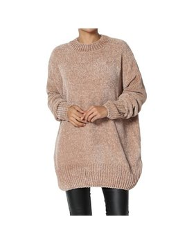The Mogan Women's Super Soft Knit Long Sleeve Round Neck Oversized Pullover Sweater by The Mogan