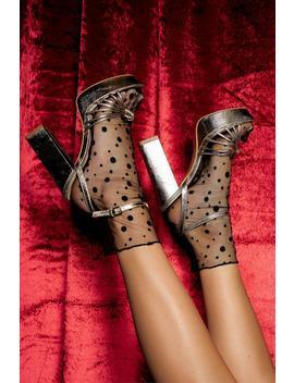 Metallic Cage Toe Platform Heels by Boohoo