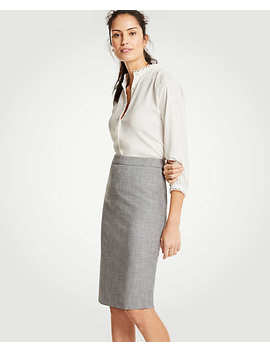 Crosshatch Pencil Skirt by Ann Taylor