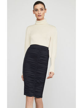 Ruched Pencil Skirt by Bcbgmaxazria