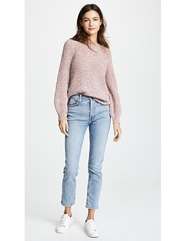 Marled Crew Sweater by Frame
