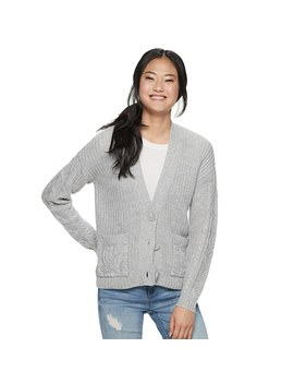Juniors' Almost Famous Button Front Cardigan by Kohl's