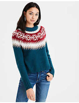 Ae Fair Isle Pullover Sweater by American Eagle Outfitters