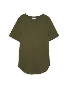 Khaki Longline T Shirt by Primark