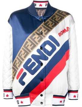 Reversible Logo Bomber Jacket by Fendi