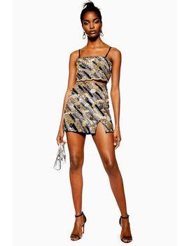 Sequin Pelmet Mini Skirt by Topshop