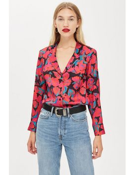Petite Floral Pj Style Shirt by Topshop