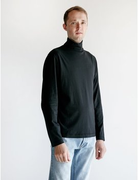Our Legacy Jersey Turtleneck   Black Army by Garmentory
