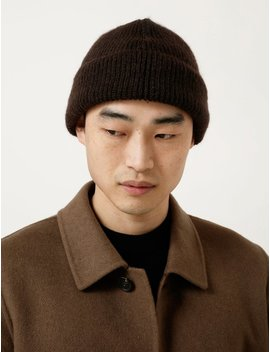 Our Legacy Knitted Hat   Brown Mohair by Garmentory
