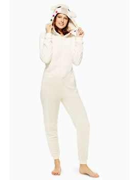Alpaca Hooded Onesie by Topshop