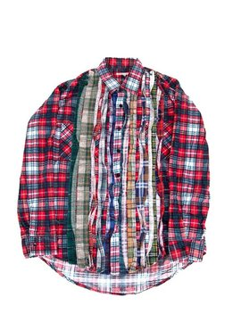 Needles Ribbon Flannel   Red by Garmentory