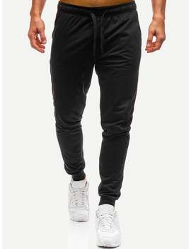Men Drawstring Waist Solid Joggers by Romwe