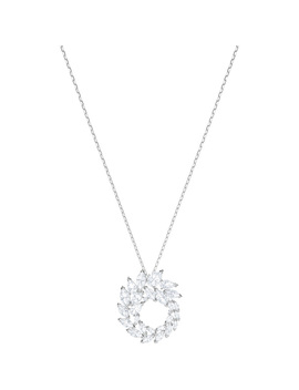 Louison Pendant, White, Rhodium Plating by Swarovski