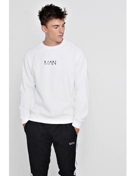 Original Man Print Sweater by Boohoo