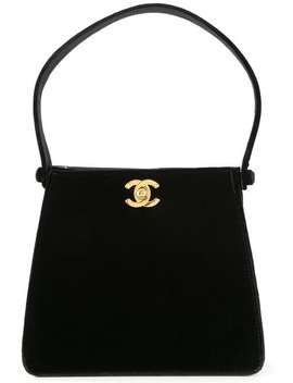 Cc Logo Quilted Hand Bag by Chanel Vintage