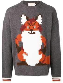 Intarsia Fox Sweater by Maison Kitsuné
