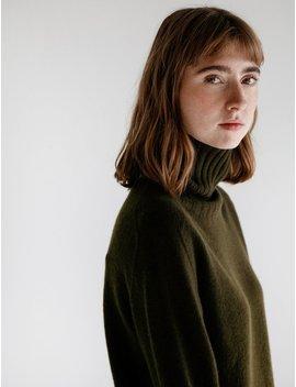Margaret Howell Wide Rollneck Cashmere Sweater   Algae by Garmentory