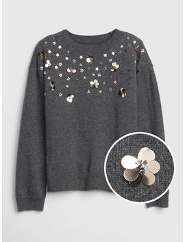 Floral Applique Sweater by Gap