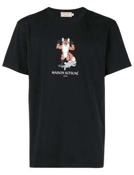 Fox Cross Stitch Logo T Shirt by Maison Kitsuné