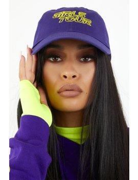 Girls Tour Racer Dad Hat Purple by Sorella