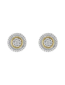Caviar Diamond Stud Earrings by Lagos