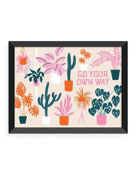 Go Your Own Way Art Print   Black Frame by Ban.Do