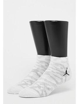 Elephant Quarter Socks White/Black by Jordan