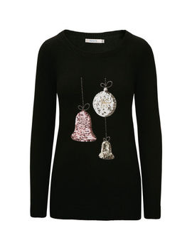 Festive Ornaments Pullover Sweater by Ricki's