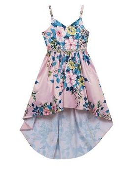Girl's Floral Dress Hi Lo Dress by Rare Editions