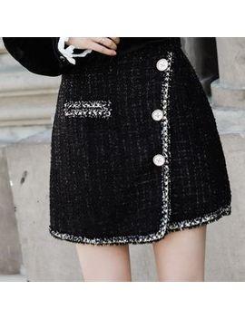Baabi   Tweed A Line Mini Skirt by Baabi