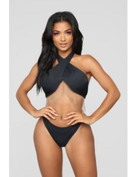 Deep Feelings Bikini   Black/Gold by Fashion Nova