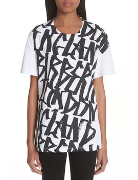 Cimarron Graffiti Print & Vintage Check Tee by Burberry