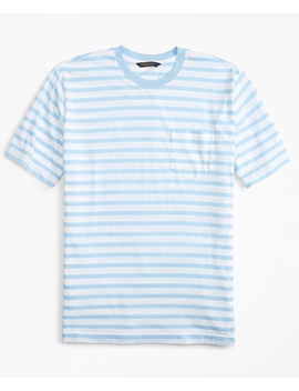 Supima® Cotton Stripe T Shirt by Brooks Brothers