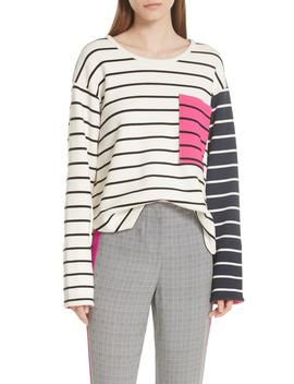 Stripe Pocket Tee by Grey Jason Wu