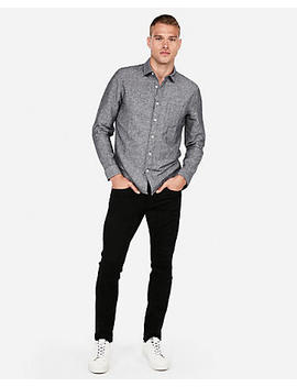 Slim Linen Blend Shirt by Express