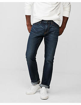 Slim Medium Wash 100 Percents Cotton Jeans by Express