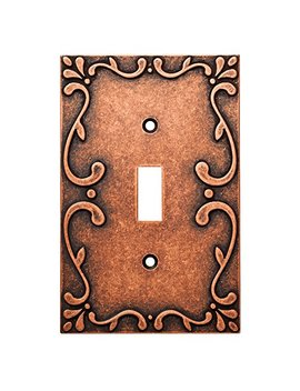 Franklin Brass W35070 Cps C Classic Lace Single Switch Wall Plate/Switch Plate/Cover, Sponged Copper by Franklin Brass